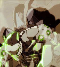 Don't mess with Doomfist>>>poor genji. Overwatch Hanzo, Overwatch Comic, Genji And Hanzo, Overwatch Video Game, Genji Shimada, Goth Art, Character Development, Cultura Pop, Gifs