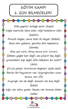 Preschool Education, Classroom Activities, Activities For Kids, Turkish Lessons, Turkish Language, Kids And Parenting, Homeschool, Student, How To Plan