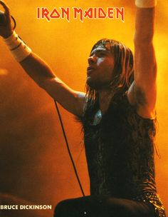 Bruce Dickinson ~ I saw Iron Maiden Twice, The Beast tour & Some Where in time. 80s Metal Bands, Heavy Metal Bands, Music Icon, My Music, Hard Rock, 80s Heavy Metal, 80s Hair Bands, Bruce Dickinson, Concert Tickets