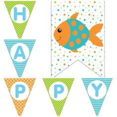 Fish Ocean Boys Under The Sea Birthday Party Decorations Digital Printable Package