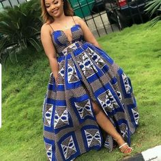 Ankara Dress, Kitenge Dress, 2 piece crop top and maxi skirt Dress African Fashion Ankara, Latest African Fashion Dresses, African Dresses For Women, African Print Dresses, African Print Fashion, Africa Fashion, African Attire, African Wear, African Prints