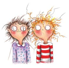 Marieke Nelissen Illustration - marieke, nelissen, marieke nelissen, painted, digital, photoshop, illustrator, traditional, commercial, trade, picture book, fiction, educational, novelty, funny, girls, friends, sisters, siblings, children, teenagers, young, hairs, haircutting, hair stylists, scissors, beauty, beauticians, hairdressers , shocked,