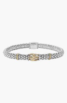 Women's LAGOS 'Torsade' Rope Bracelet - Silver/ Gold