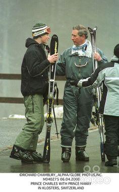 Richard Chambury_alpha/Globe Photos,inc. M040275 06.04.2000 Prince Charles with Prince Harry in Klosters, Switzerland