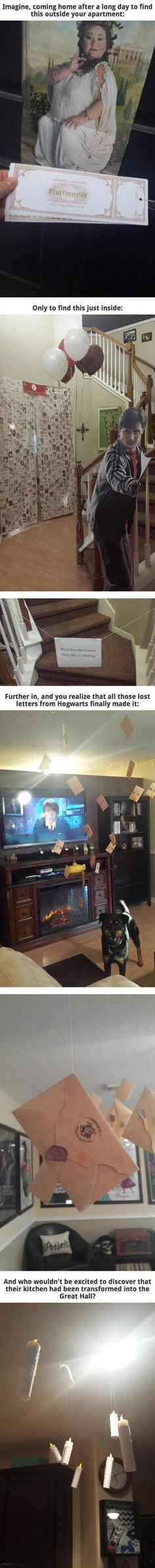 Harry Potter Themed Birthday Party. I would die of happiness :)