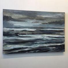 Abstract seascape in progress by Jeffrey Nemeroff