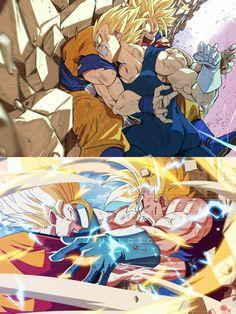 Goku vs Majin Vegeta, vs Majin Vegeta Dragon Ball is a Japanese manga series written and illustrated by Akira Toriyama. Originally serialized in Weekly Shōnen Jump mag. Dragon Ball Gt, Dragon Ball Image, Manga Anime, Art Anime, Anime Artwork, Goku E Vegeta, Goku Vs, Son Goku, Ball Drawing
