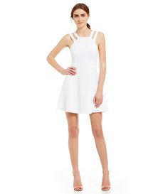 Summer White:French Connection Whisper Fit and Flare Dress