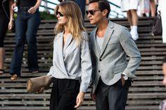 Couple dressing