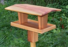 Wooden Bird Feeder Plans | The Extra Large Blue Jay - A Large Sized Fly Through Bird Feeder