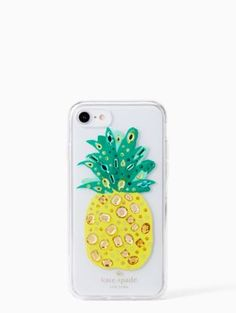 A pineapple a day keeps worry away. Kate Spade New York jeweled pineapple case keeps your iPhone 7 or 8 safe and your mind in vacation mode. Apple Iphone 6, Apple Ipad, Cute Iphone 7 Cases, Iphone 6 Gold, Ipod Touch Cases, Iphones For Sale, Iphone Price, Iphone 8 Plus, Kate Spade