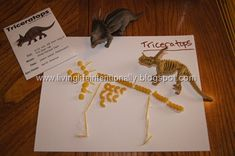 This could be cute for dinosaur week. making dinosaur fossils with pasta and free fact cards Dinosaurs Preschool, Dinosaur Activities, Dinosaur Crafts, Dinosaur Fossils, Preschool Science, Preschool Activities, Dinosaur Museum, Kindergarten Themes, Vocabulary Activities