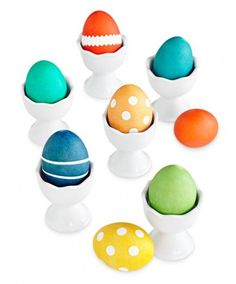 How to make Easter eggs using a box of food coloring to dye eggs: http://www.midwestliving.com/holidays/easter/easy-easter-decorations/?page=2