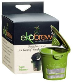ekobrew Cup, Refillable Cup For Keurig K-Cup Brewers, Green, 1-Count $12.95