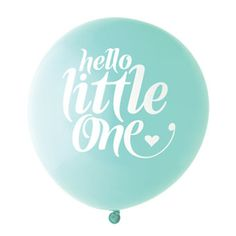 Aqua Little One Balloons