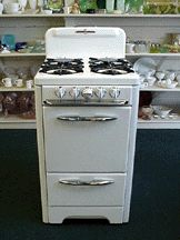 O'Keefe & Merritt Retro Classic antique stoves examples---I used to cook on one like this!