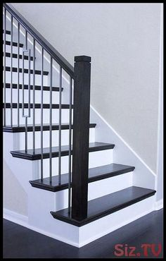 top modern design home interior floor stairs 9 New Staircase, Staircase Remodel, Modern Staircase, Staircase Ideas, Spiral Staircases, White Staircase, Staircase Runner, Railing Ideas, Staircase Railings