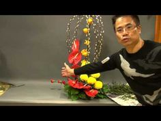 B 120 賀年特色花藝設計 Special Floral Design for Chinese New Year - YouTube