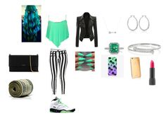 """""""mint green outfit"""" by happynini ❤ liked on Polyvore featuring Pistola, Adina Reyter, White House Black Market, Mark Broumand, Retrò, Gucci, The Small Print., Goldgenie, Bite and Lanvin"""