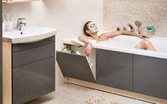 Bathroom renovations - 40 Smart And Creative Storage For Small Spaces Ideas Bathroom Design Luxury, Bathroom Design Small, Small Bathroom With Bath, Small Bathroom Renovations, Tiny Bathrooms, Bathroom Remodeling, Bad Inspiration, Bathroom Inspiration, Bathroom Ideas