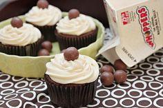 Hello! Chocolate Malt Cupcakes with Vanilla Malt Buttercream. Yes, please.