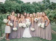 Bridesmaid Dresses, Andrew Adela, Flowers by: Elixir Events Texas, Photo: Tracy Enoch Photography - Texas Wedding http://caratsandcake.com/ninaandnick