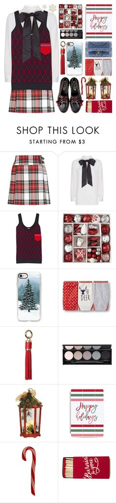 """""""Christmas"""" by barbarela11 ❤ liked on Polyvore featuring New Look, Valentino, Miu Miu, North Pole Trading Co., Casetify, Dorothy Perkins and Witchery"""
