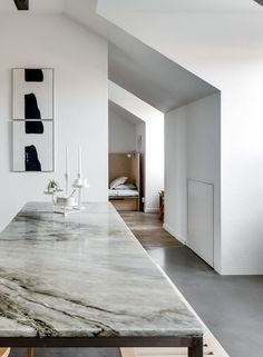 White Spaces This beautifully renovated loft located in Stockholm is a display of light and well-thought design. Concept Architecture, Interior Architecture, Interior Design, Minimal Home, Nordic Home, Grey Flooring, White Space, Home Decor Inspiration, Building A House