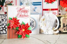 Make stunning poinsettia with the @tatteredlaceuk #Christmas Trio Collection! Shop now at C+C: http://www.createandcraft.tv/shows/Trio-Christmas-Craftinator-2526388 #cardmaking #papercraft