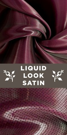 Silk Blend Liquid Look Satin in Plum B And J Fabrics, Textile Fabrics, Textile Prints, Silk Satin Dress, Satin Fabric, Fashion Terminology, Fabric Board, Different Types Of Fabric, Hand Embroidery Tutorial