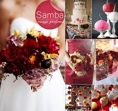 inspiration mariage couleur d'automne - rouge profond samba