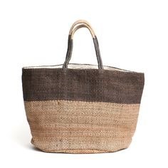 Fair trade jute tote bag grey