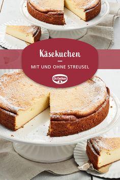 Ein klassischer Käsekuchen mit und ohne Streusel #einfachlecker #zumkaffee #selberbacken Seville, German Cake, Streusel, Vanilla Cake, Cheesecakes, Thermomix, Candy, Food Porn, Deserts