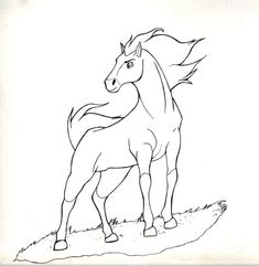wild horse coloring pages spirit stallion of the cimarron 2002