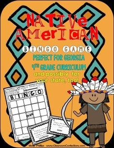 native americans bingo game georgia 4th grade and more is it time to