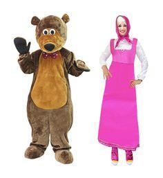 In seguito alla grande richiesta sono disponibili mascotte e travestimento di Masha e Orso clicca qui► http://www.ilgrilloparlanteanimazione.it/servizi.php?id=8 #animazione #bambini #feste #compleanno #divertimento #giochi