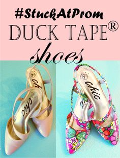 #StuckatProm with Duck Tape® - DiY project brassyapple.com #refashion #shoes