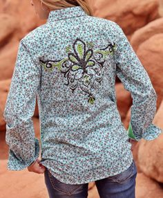 CRUEL GIRL RODEO Western Barrel Embroidery Studs  SHIRT COWGIRL  NWT M more sizes..way below retail! our prices are WAY BELOW RETAIL! all JEWELRY SHIPS FREE! www.baharanchwesternwear.com baha ranch western wear ebay seller id soloedition