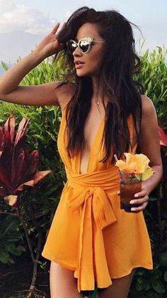 #popular #shay #mitchell #outfits | Tangerine Romper