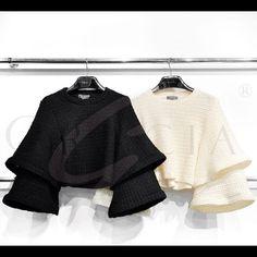 Top Layer Sleeve Ruffle Top Gracia Tops Blouses