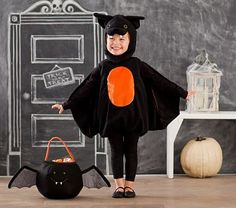 Shop all Halloween accessories, costumes and decor at Pottery Barn Kids. Find all the essentials for Halloween from cool costumes to festive decor. Toddler Bat Costume, Bat Halloween Costume, Classic Halloween Costumes, Wolf Costume, Halloween Bats, Baby Costumes, Halloween 2016, Halloween Ideas, Grease Costumes