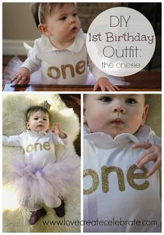 When my daughter turned one I did what all good blogger mamas do: I made it her DIY first birthday onesie and outfit myself!