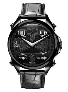 Jacob & Co.'s Palatial FTZ Timepiece with Black PVD dial with pirate design and black diamonds Cool Watches, Watches For Men, Van Cleef Arpels, Bvlgari, Michael Kors Watch, Fine Jewelry, Jewellery, Engagement Rings, Black Diamonds