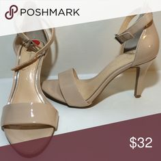 Jessica Simpson heels with strap Size 6, worn once, small scratch on heel but not noticeable. very comfortable just not my style anymore! Jessica Simpson Shoes Heels