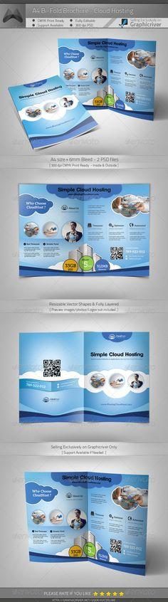 Cloud Hosting Service - A4 Bi-Fold Brochure