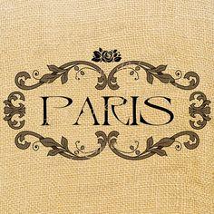 Paris digital sheet image France Europe Romantic Rose by JLeeloo2