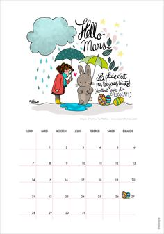 FREE Printable Calendar March 2016