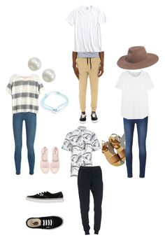 """""""Double date with @jackie1739"""" by brisabella ❤ liked on Polyvore featuring beauty, Frame Denim, Madewell, Circus By Sam Edelman, 7 For All Mankind, Charlotte Stone, Majorica, Cartier, Lucky Brand and River Island"""