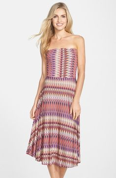 Free shipping and returns on FELICITY & COCO Print Jersey Fit & Flare Dress (Nordstrom Exclusive) at Nordstrom.com. This strapless midi-length dress uses form-fitting stretch jersey to secure the bodice and add fluidity to the flattering skirt.