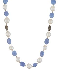 Freshwater+Pearl,+Chalcedony+&+Champagne+Diamond+Rope+Necklace+by+Bavna+at+Neiman+Marcus+Last+Call.